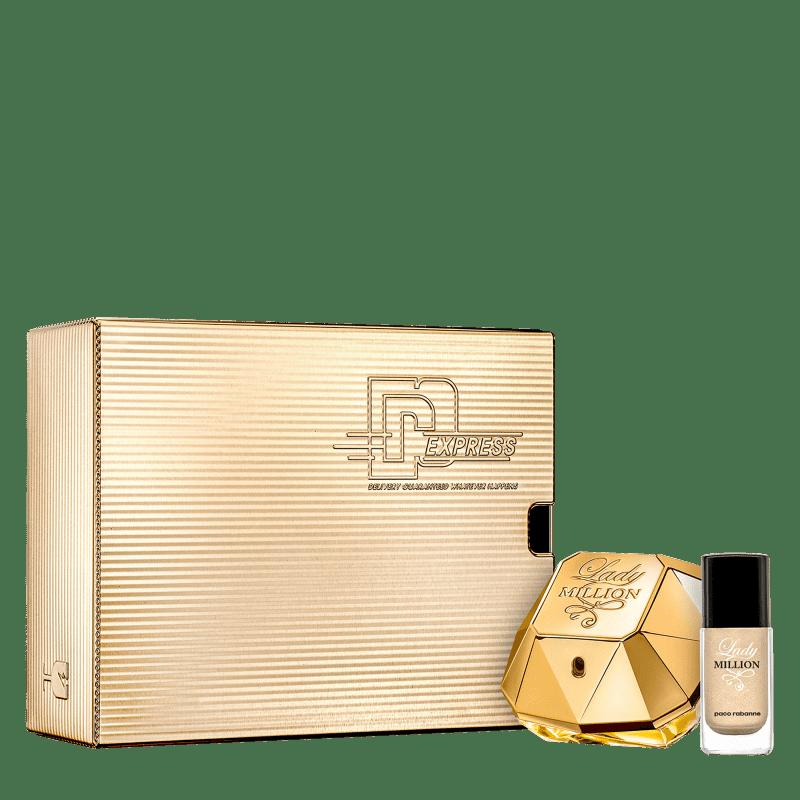 Conjunto Lady Million Paco Rabanne Feminino Eau de Parfum 50ml + Esmalte
