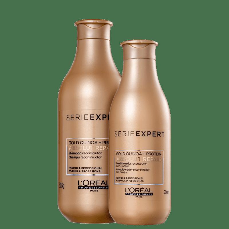 Kit L'Oréal Professionnel Serie Expert Absolut Repair Gold Quinoa + Protein Duo (2 Produtos)