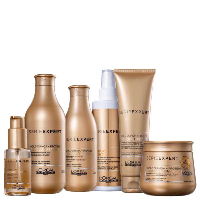 Kit L'Oréal Professionnel Serie Expert Absolut Repair Gold Quinoa + Protein Full (6 Produtos)