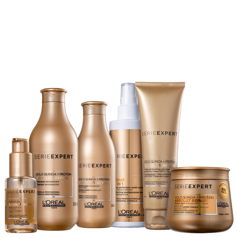 Kit L'Oréal Professionnel Serie Expert Absolut Repair Gold Quinoa + Protein Golden Full (6 Produtos)