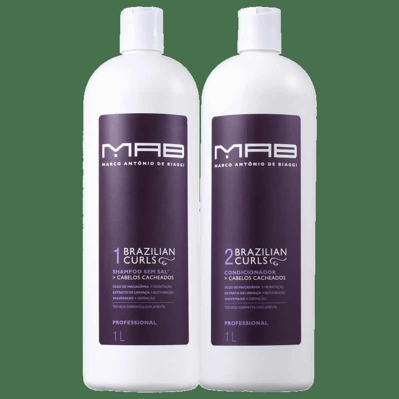 Kit MAB Marco Antônio de Biaggi Brazilian Curls Duo Salon (2 Produtos)