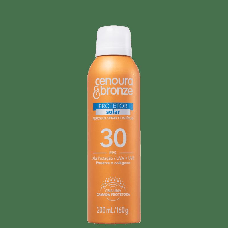 Cenoura & Bronze Aerossol FPS 30 - Protetor Solar em Spray 200ml