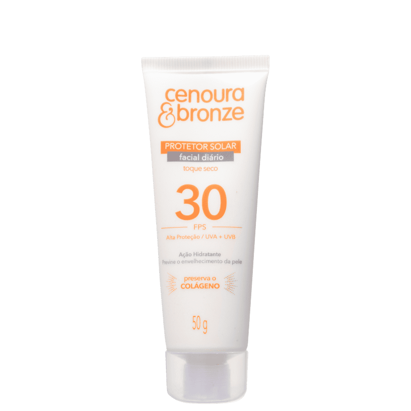 Cenoura & Bronze Diário FPS 30 - Protetor Solar Facial 50g