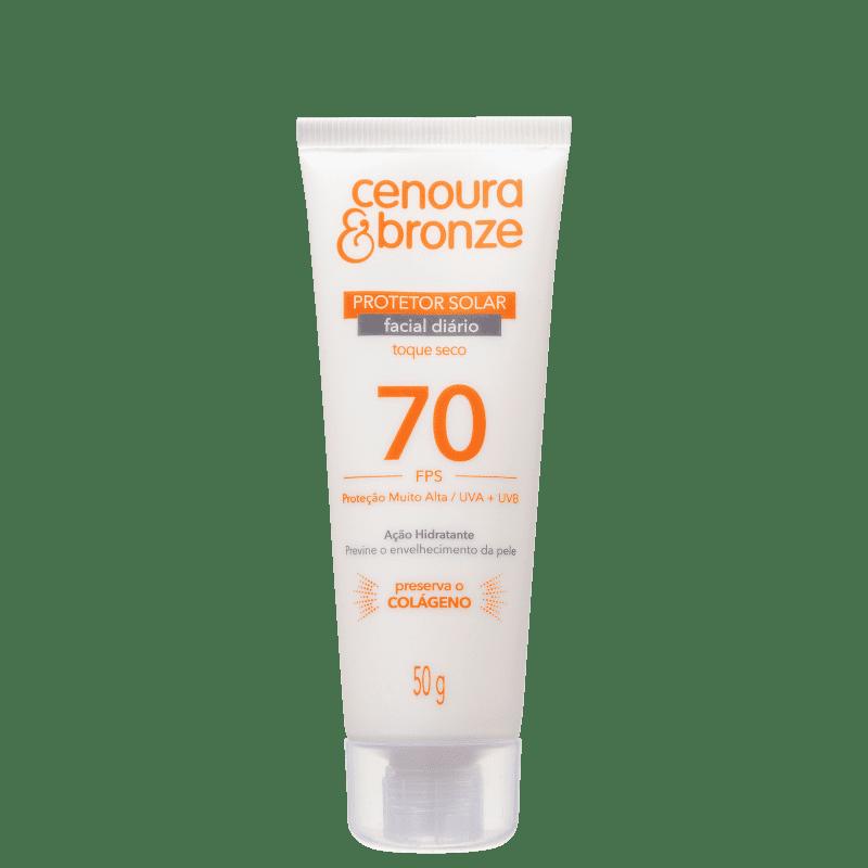 Cenoura & Bronze Diário FPS 70 - Protetor Solar Facial 50g