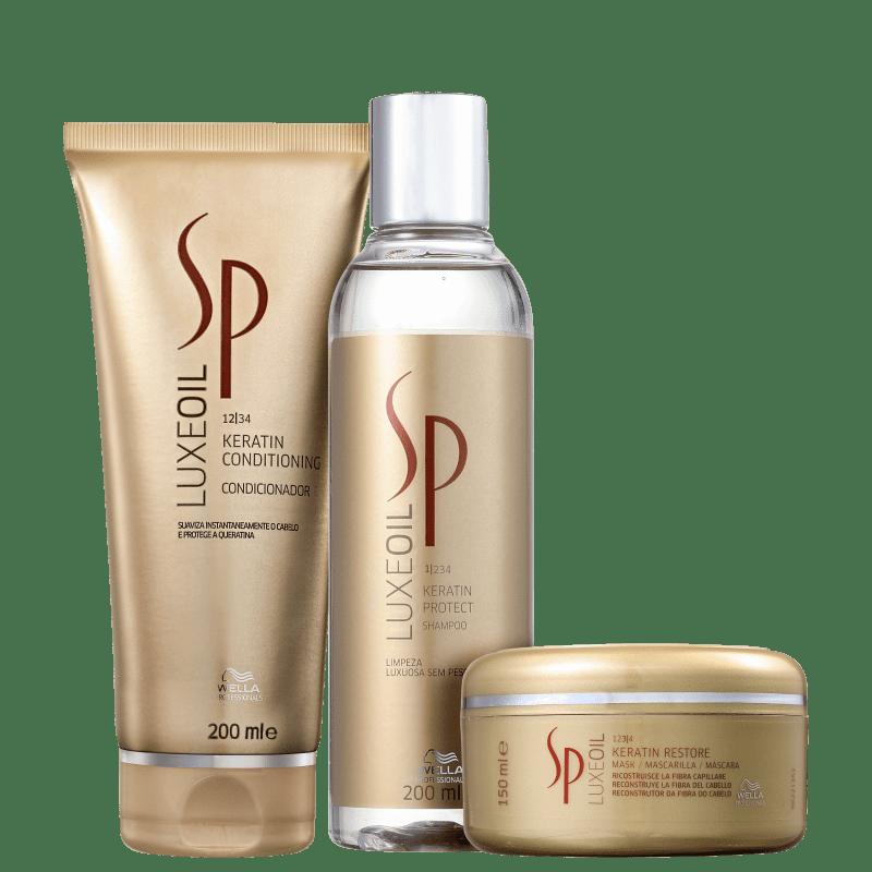 Kit SP System Professional Luxe Oil Keratin Restore Trio (3 Produtos)