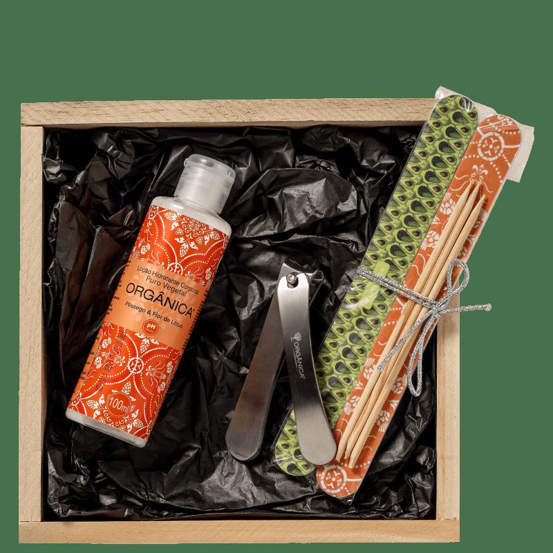Kit Orgânica Nail Care Pêssego e Flor de Lótus (4 produtos)