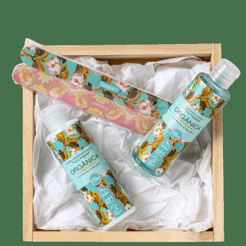 Kit Orgânica Basic Care Chá Branco e Gengibre (3 produtos)