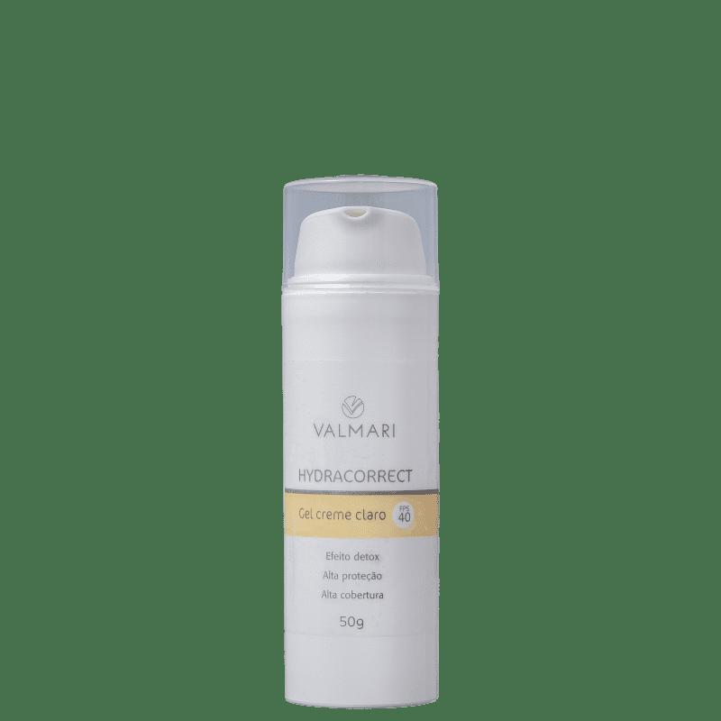 Valmari Hydracorrect Gel Creme Claro FPS 40 - Protetor Solar Facial 50g