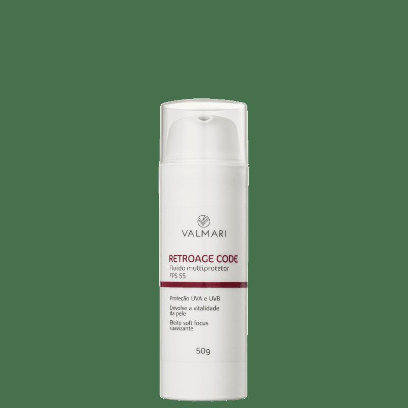 Valmari Retroage Code Multiprotetor Hidratante FPS 55 - Protetor Solar Facial 50g