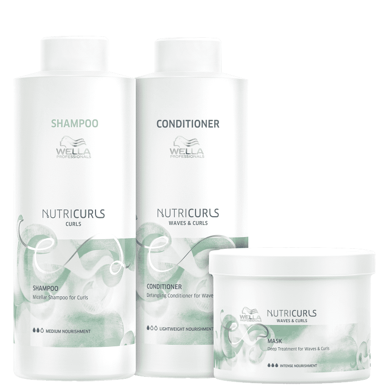 Kit Wella Professionals Nutricurls Salon Trio (3 Produtos)