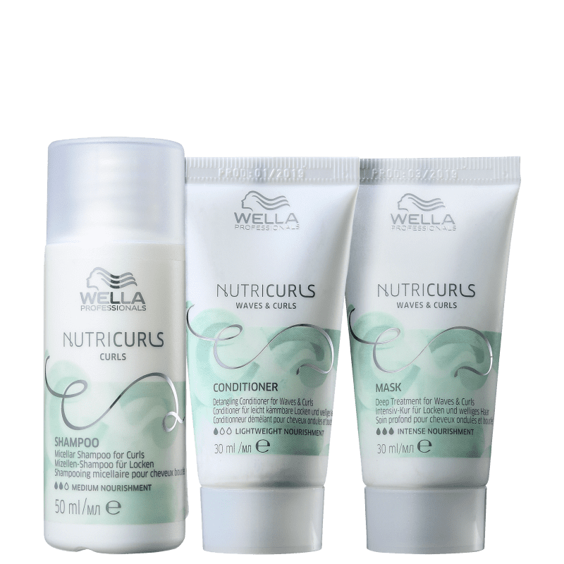 Kit Wella Professionals Nutricurls Travel Size Trio (3 Produtos)