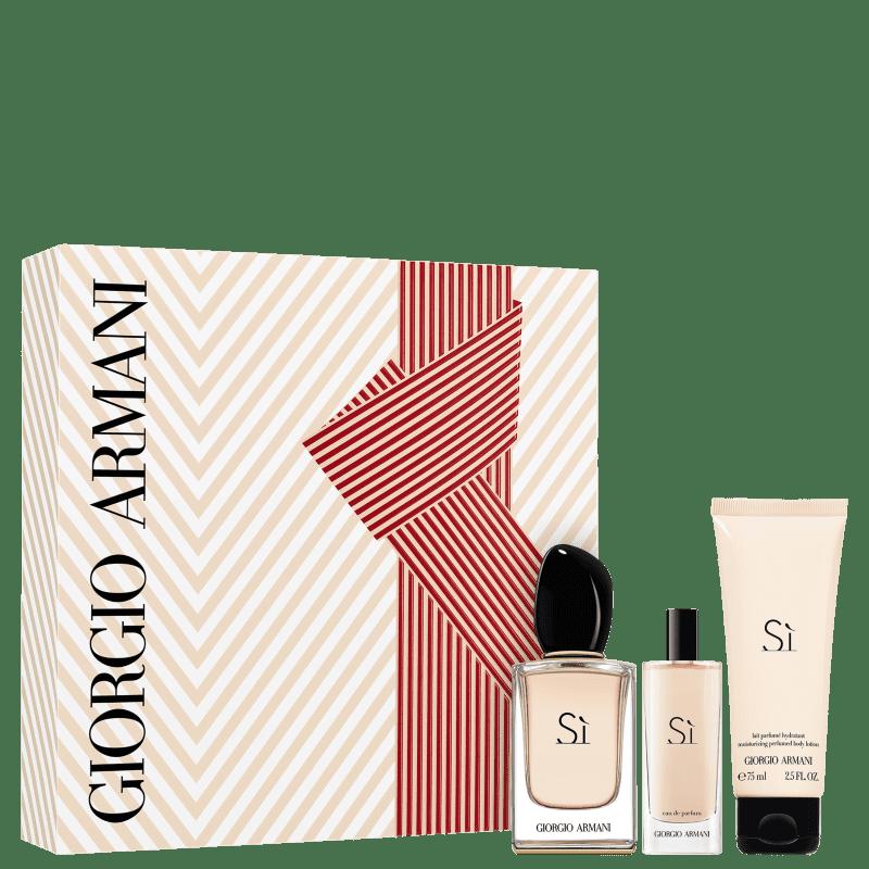 Conjunto Giorgio Armani Sì - Eau de Parfum 50ml + Travel Size 15ml + Loção Corporal 75ml