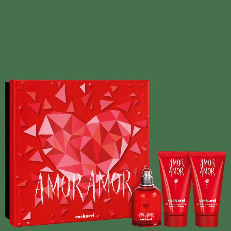 Kit Cacharel Amor Amor Eau de Toilette 50ml + 2 Body Lotion 50ml