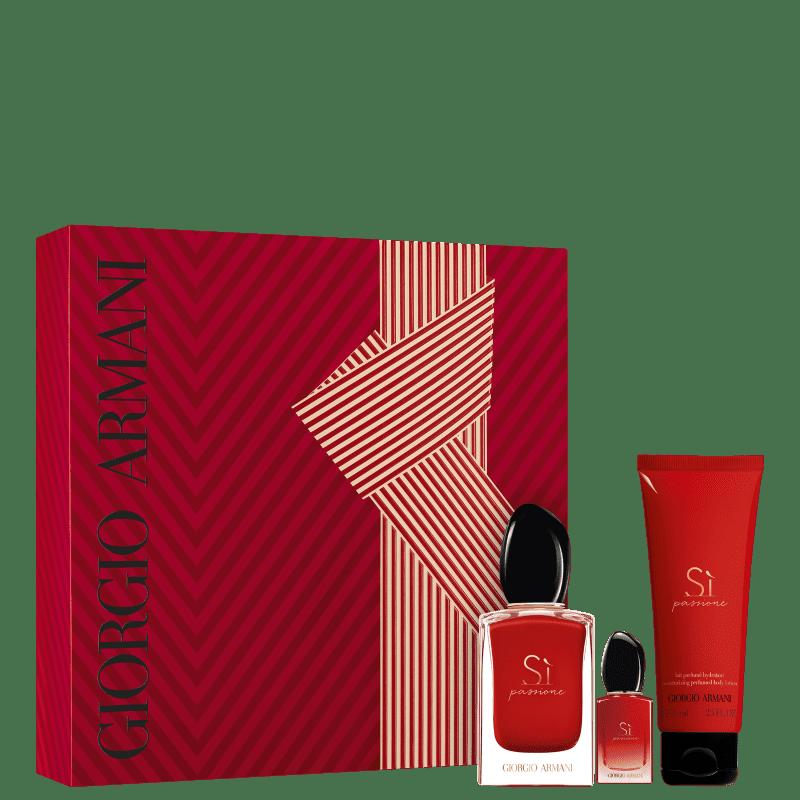 Conjunto Sì Passione Giorgio Armani Feminino - Eau de Parfum 50ml + Miniatura 7ml + Loção Hidratante 75ml