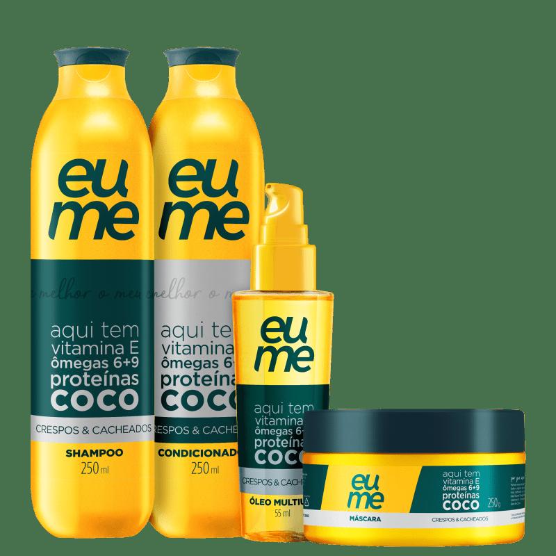 Kit Eume Crespos & Cacheados Diário (4 Produtos)