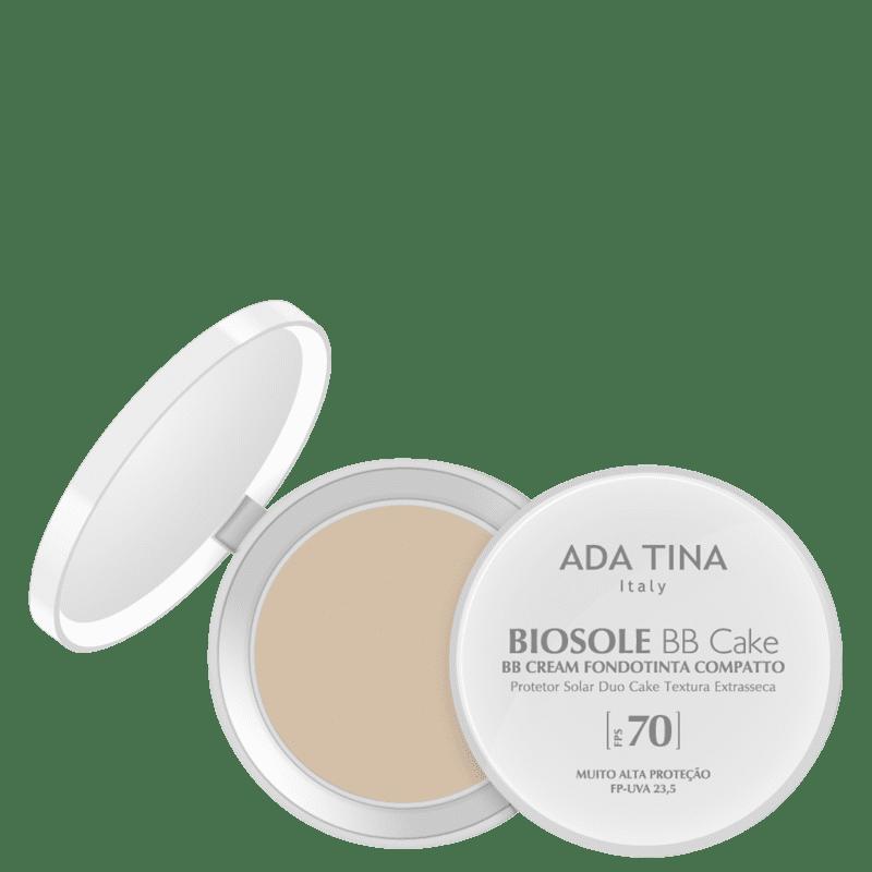 Ada Tina Biosole BB Cake FPS70 Bianco - Protetor Solar Facial com Cor 10g