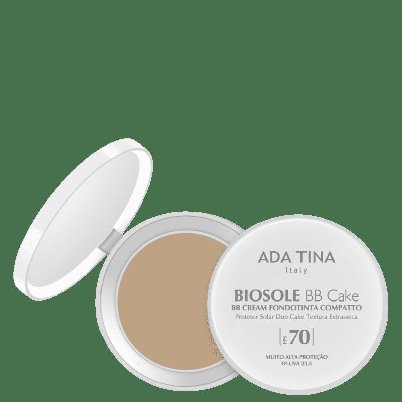 Ada Tina Biosole BB Cake FPS70 Vaniglia - Protetor Solar Facial com Cor 10g