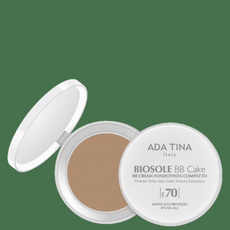 Ada Tina Biosole BB Cake FPS70 Miele - Protetor Solar Facial com Cor 10g
