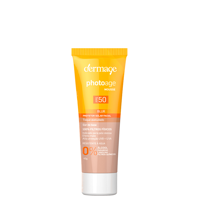 Dermage Photoage Mousse Claro FPS 50 - Protetor Solar Facial 45g