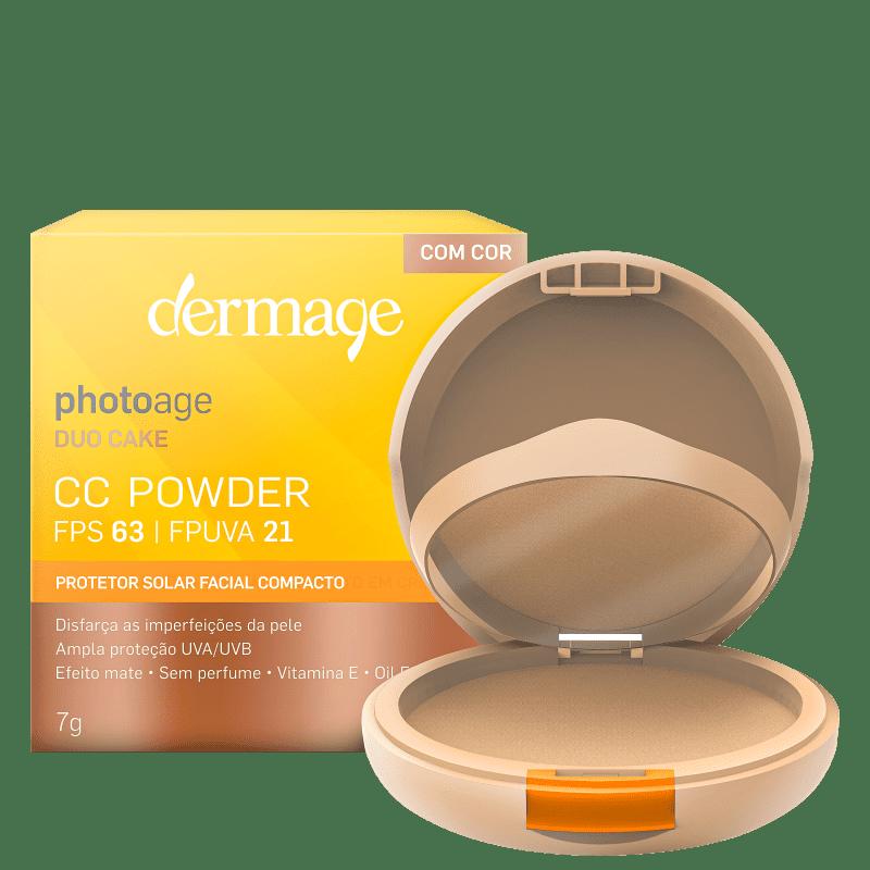 Dermage Photoage CC Powder Médio FPS 63 - Protetor Solar Facial 7g