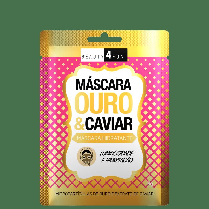 Beauty 4 Fun Ouro & Caviar - Máscara Hidratante 8g
