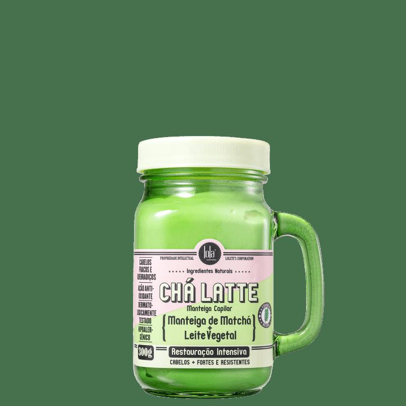 Lola Cosmetics Chá Latte Manteiga de Matchá + Leite Vegetal - Máscara Capilar 300g