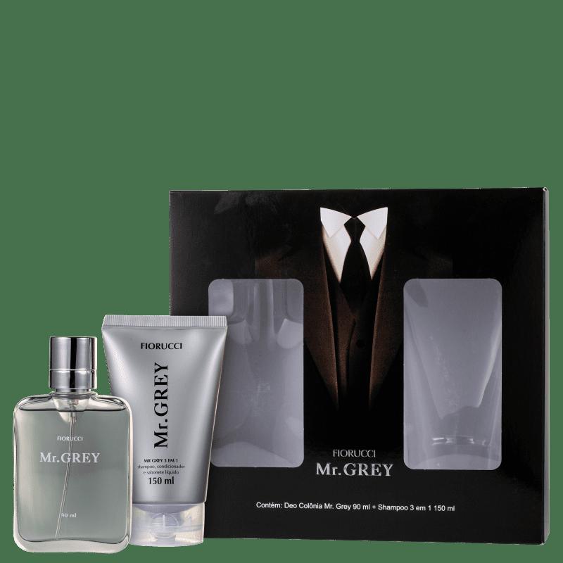 Conjunto Fiorucci Mr. Grey - Perfume Masculino 90ml + Shampoo 150ml
