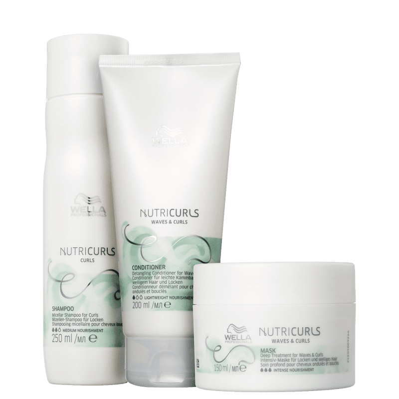 Kit Wella Professionals Nutricurls Trio (3 Produtos)