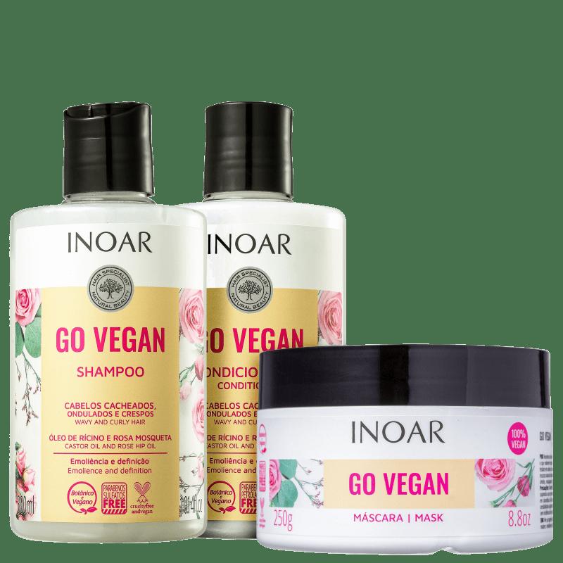 Kit Inoar Go Vegan Cachos (3 Produtos)
