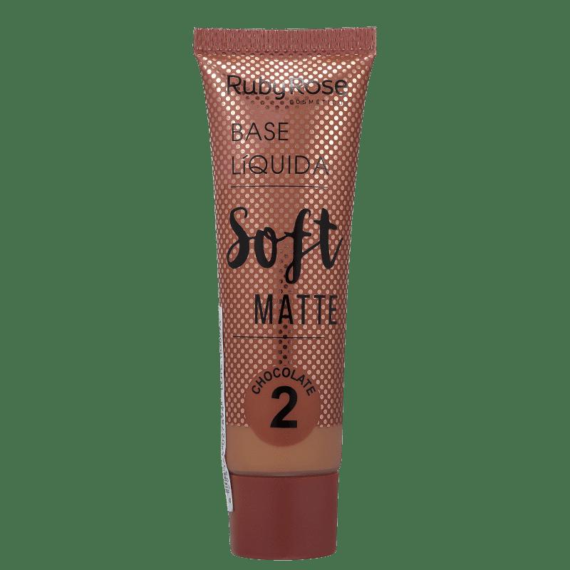 Ruby Rose Soft Matte 2 Chocolate - Base Líquida 29ml