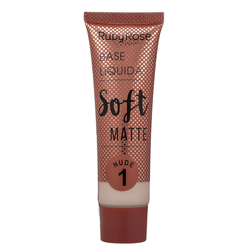 Ruby Rose Soft Matte 1 Nude Claro - Base Líquida 29ml
