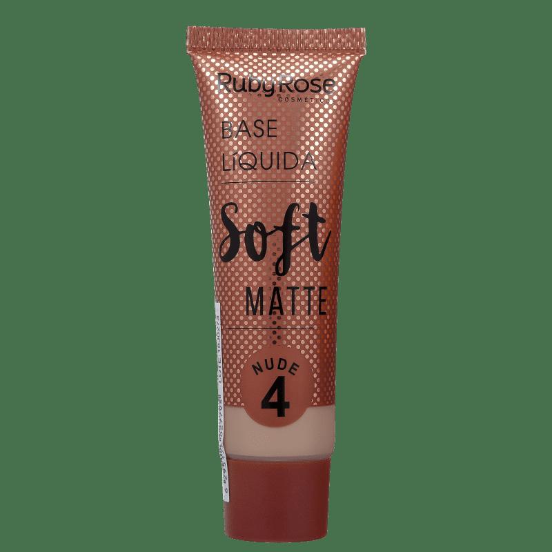 Ruby Rose Soft Matte 4 Nude - Base Líquida 29ml