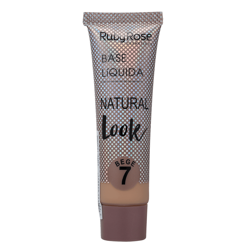 Ruby Rose Natural Look Bege 7 - Base Líquida 29ml