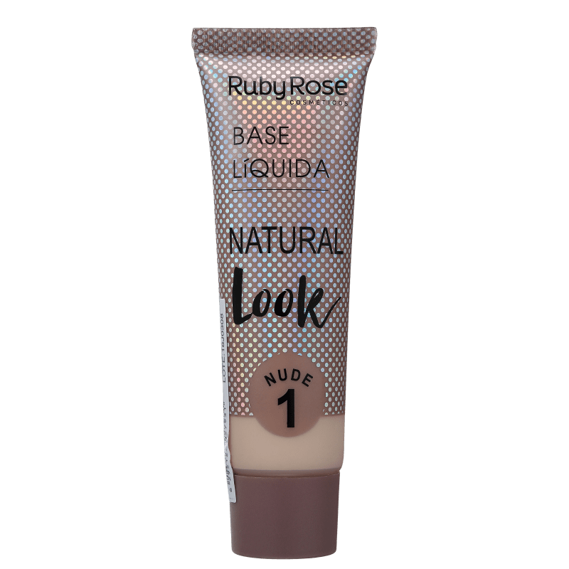 Ruby Rose Natural Look Nude 1 - Base Líquida 29ml