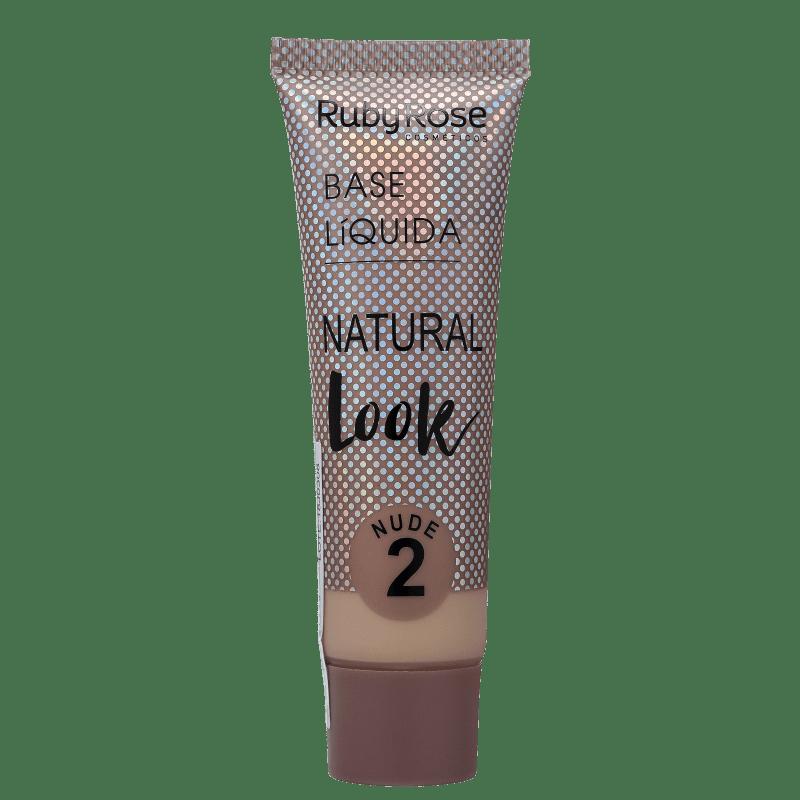 Ruby Rose Natural Look Nude 2 - Base Líquida 29ml