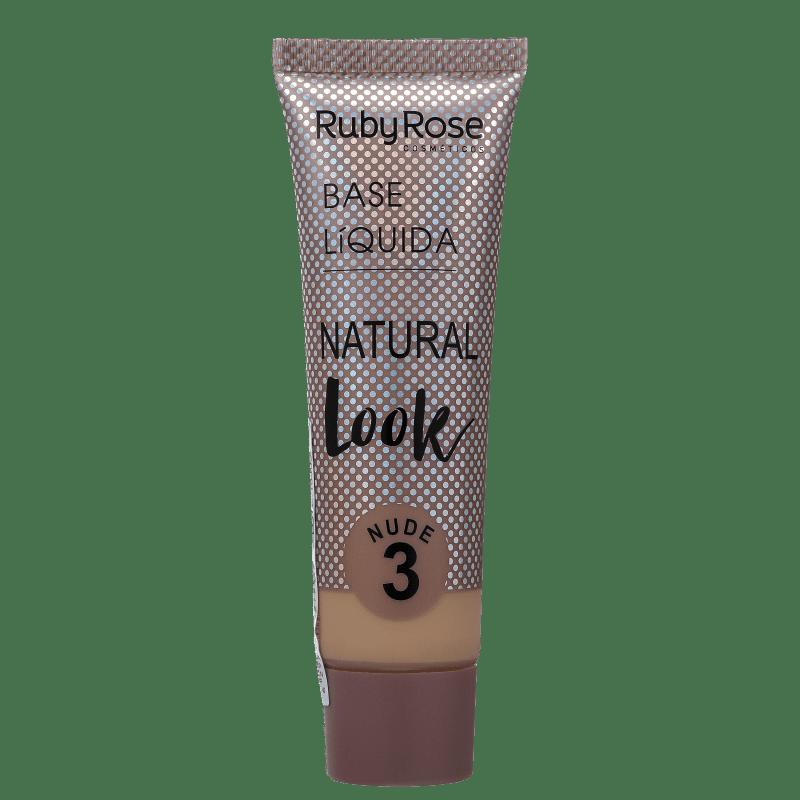 Ruby Rose Natural Look Nude 3 - Base Líquida 29ml
