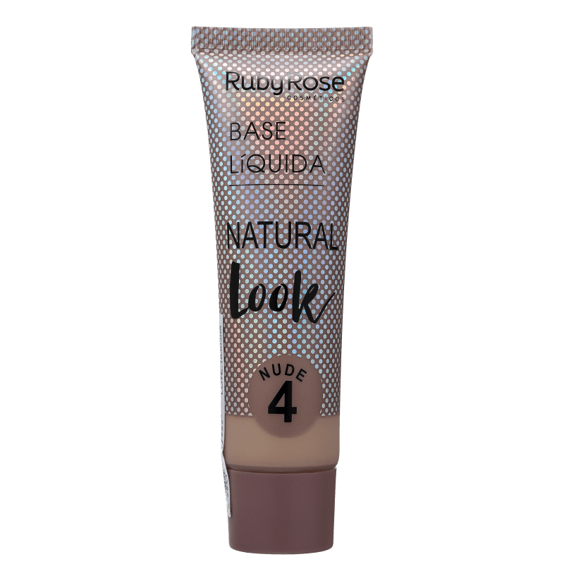 Ruby Rose Natural Look Nude 4 - Base Líquida 29ml