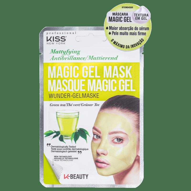Kiss New York Magic Gel Chá Verde - Máscara Facial 23ml