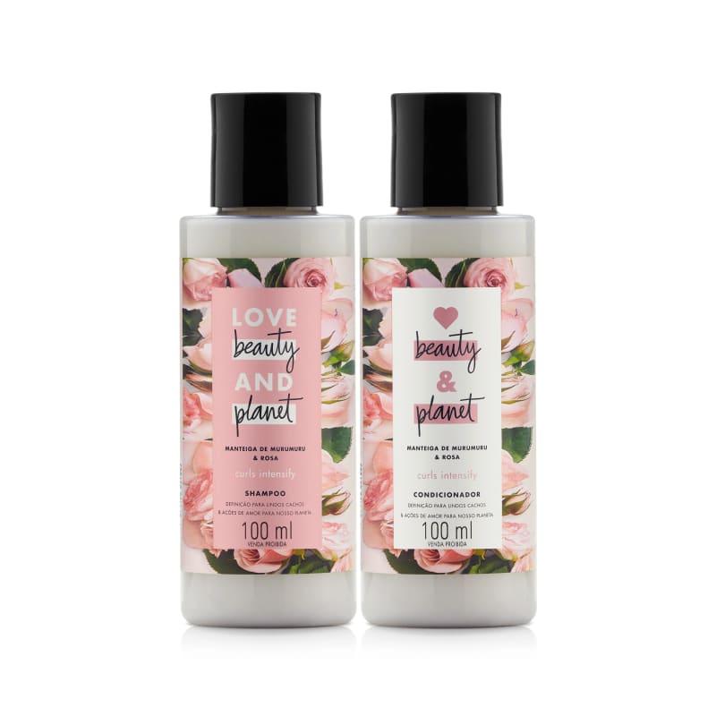 Kit Love, Beauty and Planet - Shampoo + Condicionador 100ml Curls Intensify