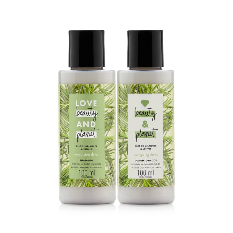 Kit Love, Beauty and Planet - Shampoo + Condicionador 100ml  Energizing Detox