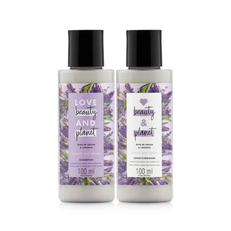 Kit Love, Beauty and Planet - Shampoo + Condicionador 100ml Smooth and Serene