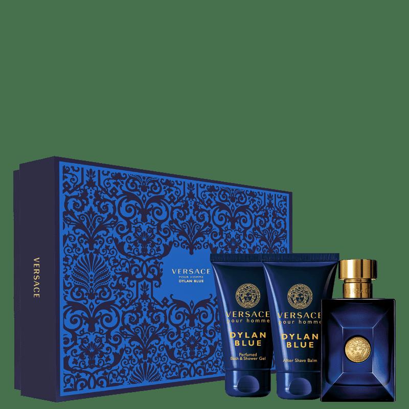 Conjunto Dylan Blue Versace Masculino - Eau de Toilette 50ml + Gel de Banho 50ml + Bálsamo 50ml