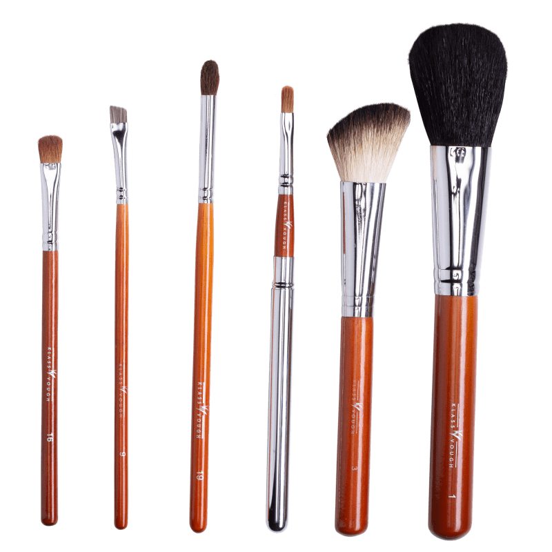 Kit de Pincéis Klass Vough Brown Line Basic Edição Limitada (6 Unidades)