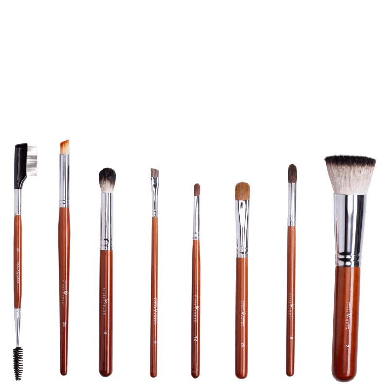 Kit de Pincéis Klass Vough Brown Line Best Seller Edição Limitada (8 Unidades)
