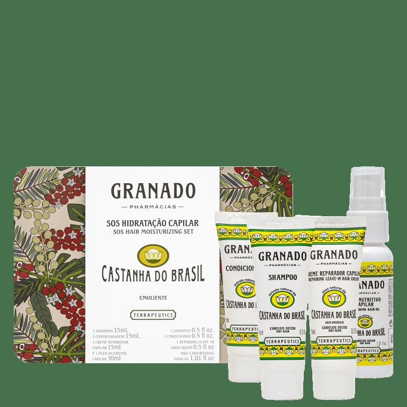 Kit Granado SOS Hidratação Capilar Castanha do Brasil (4 produtos)