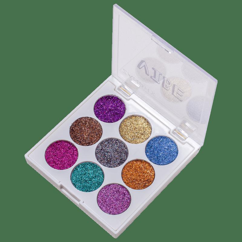 Zanphy Vibe Holográfica - Paleta de Glitter 11,7g