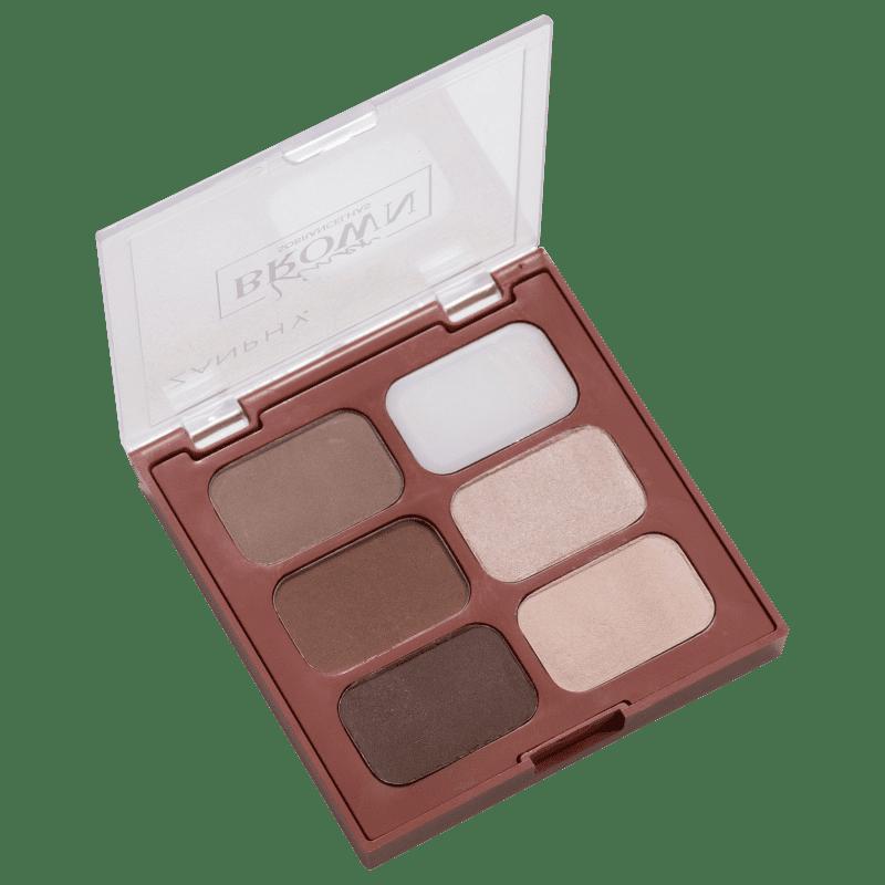 Zanphy Liner Brown 02 - Paleta para Sobrancelha 11,7g