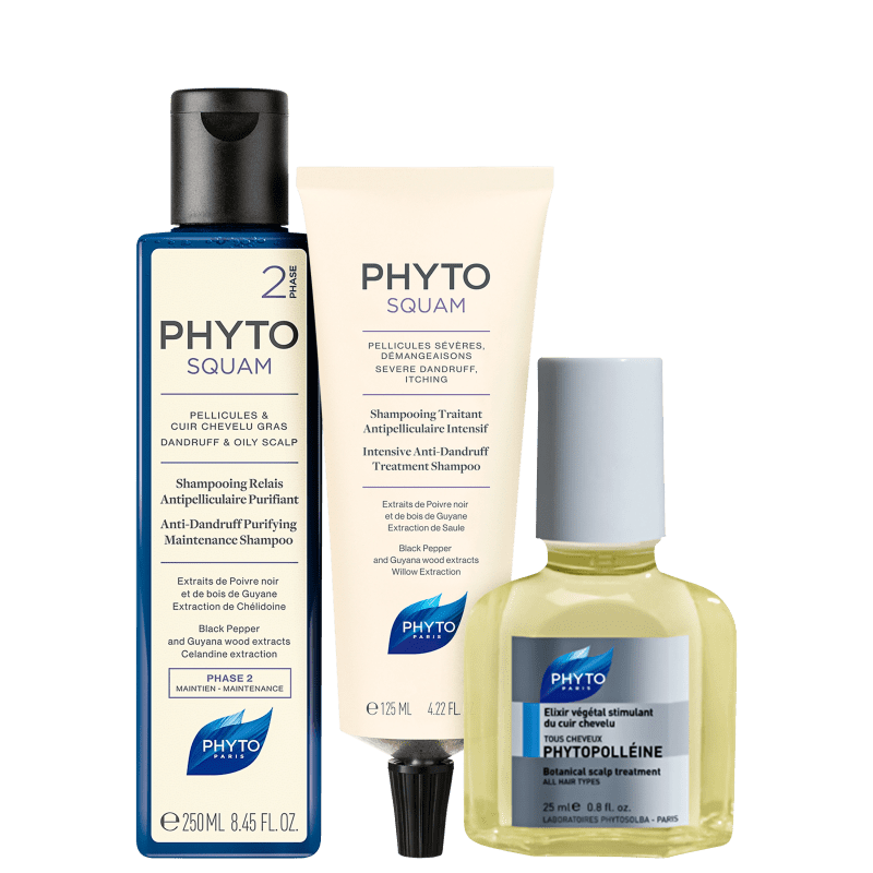 Kit PHYTO Phytosquam & Phytopolléine Trio (3 Produtos)
