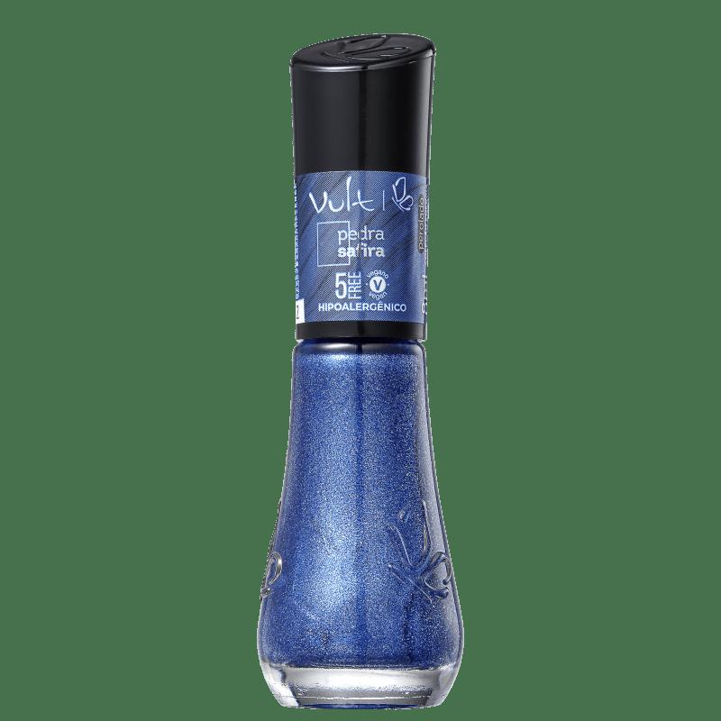 Esmalte Glitter Vult 5Free Energia das Pedras Safira 8ml