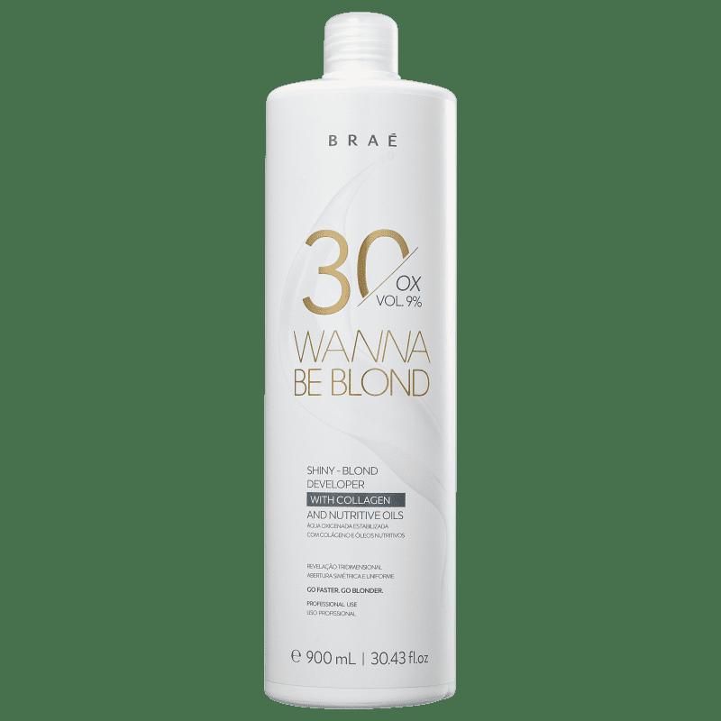 BRAÉ Wanna Be Blond 9% - Água Oxigenada 30 Volumes 900ml